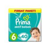 Prima Aktif Bebek Mega Fırsat Paketi 6 Beden 40'lı