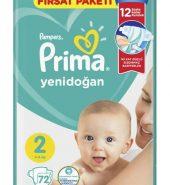 Prima Aktif Bebek Fırsat Paketi 2 No 72'li