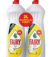 Fairy Bulaşık Deterjanı Limon Avantajlı Paket 2 Lt