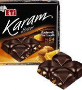 Eti Karam %54 Kakolu Bademli Portakallı Bitter Çikolata 70 Gr