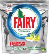 Fairy Platinum Hepsi Bir Arada Limon Kokulu 60'lı