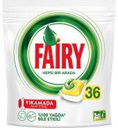 Fairy Hepsi Bir Arada Limon Kokulu 36'lı