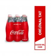 COCA COLA CAM ŞİŞE 6 * 250 ML
