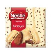 Nestle Kare Kakaolu Kurabiye Parçacıklı Beyaz Çikolata 60 g