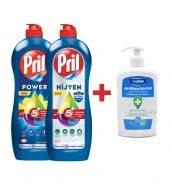 Pril Power 653 ml & Pril Power Hijyen 653 ml & Antibakteriyel Sıvı Sabun Hediyeli