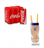 Coca Cola 6×330 ml + Bardak Hediyeli